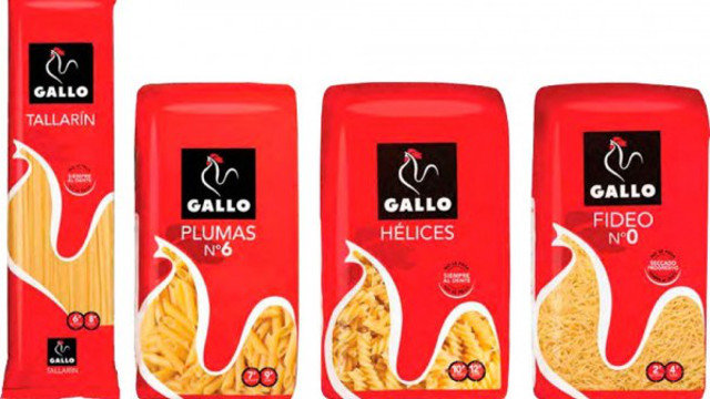 Varios productos de pastas Gallo.