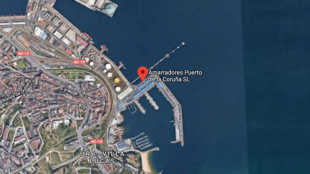 A zona do porto de Oza. GOOGLE